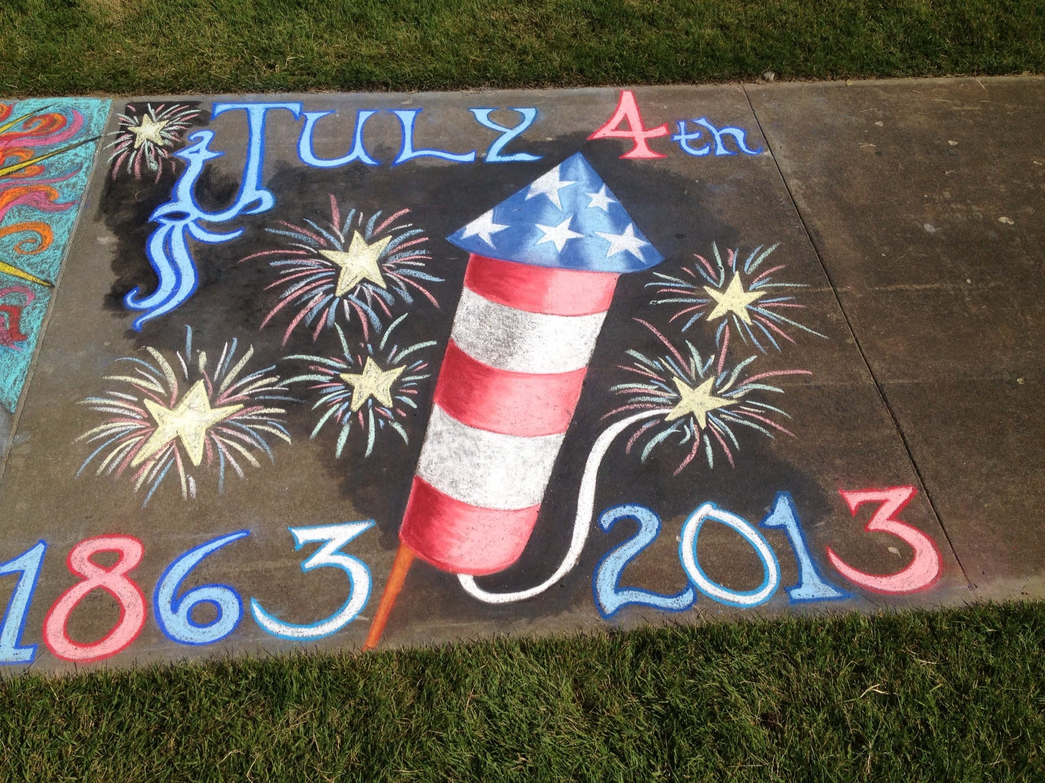 Featured Artist: Chalk Art for July 4, 2013