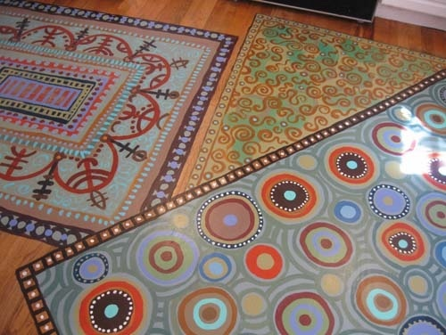 Shaklee/Erickson Commissioned Painted Rugs